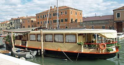 Vaporetto houseboat on Giudecca