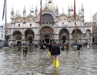 Acqua alta in the Piazza San Marco