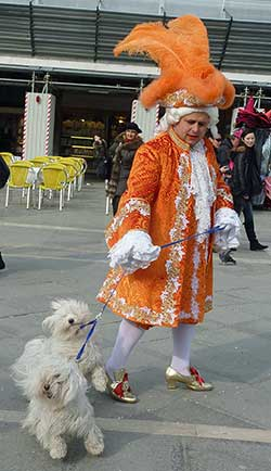 Barking dogs at Carnevale di Venezia