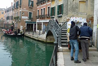 Deliverymen in Venice