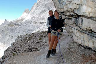 Women climbers in the Dolomites