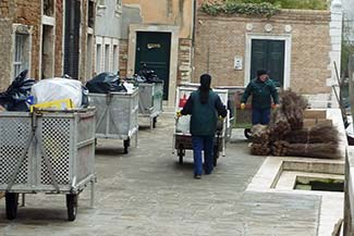 Venice sanitation workers