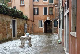 Venice snow
