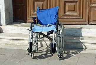 Wheelchair in Venice, Italy