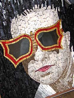 Peggy Guggenheim mosaic portrait by Antonella Gallenda