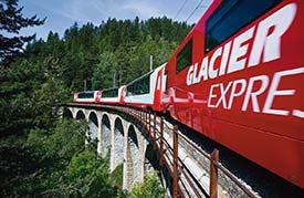 Glacier Express train in Switzerland