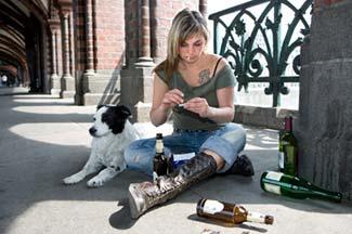 Rome wino with dog