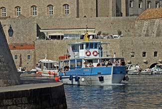 Dubrovnik tourist boat