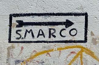 Venice San Marco street sign
