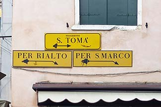 Venice sign on building