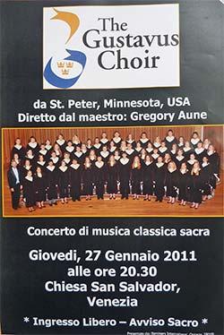 Gustavus Choir Venice concert poster