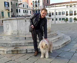 Maggie with Francesco Furlan of LA NUOVA DI VENEZIA E MESTRE