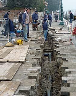 Venice utility work