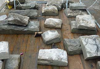 Venice paving stones before installation