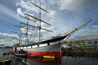 Sailing ship GLENLEE in Glasgow