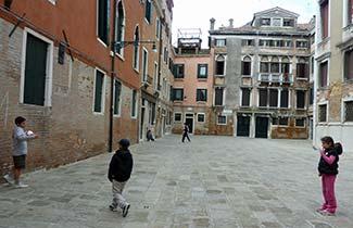 Soccer in the Campiello Albrizzi