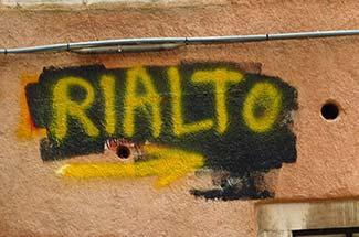 Venice Rialto sign