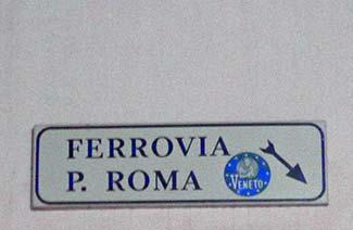 Ferrovia Venezia sign