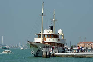 Johnny Depp's yacht VAJOLIROJA in Venice