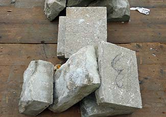 Venice paving stones - top and bottom