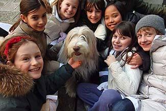 11 with schoolchildren in Venice