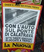 Venice newspaper poster