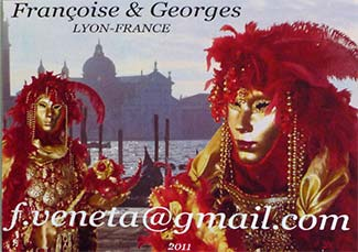 Francoise and Georges of Lyon at Venice Carnival
