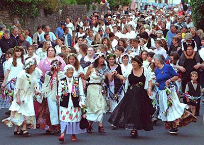 Earl of Rone procession in Combe Martin, Exmoor