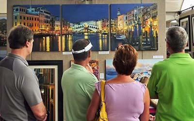 Darren Olson's booth - Uptown Art Fair Minneapolis