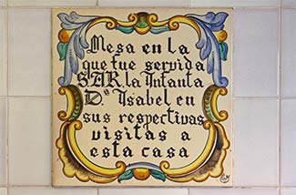 Horchateria Santa Catalina commemorative tile plaque