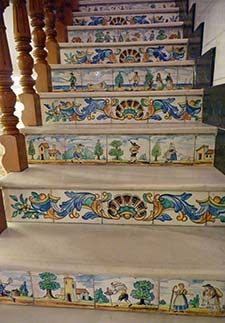 Tiled staircase in Valencia