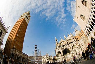 Venice fisheye photo