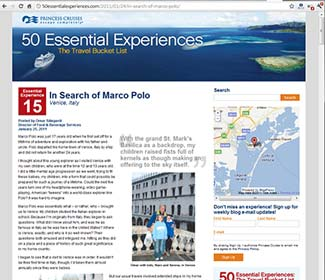 Princess 50 Essential Experiences blog screen shot