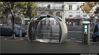 Autolib' station in Paris