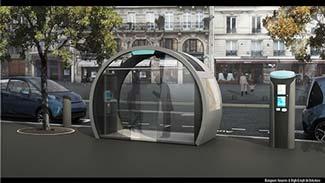 Autolib' station in Paris