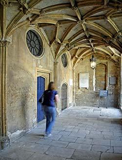 Christ Church College cloisters - Oxford Universityan
