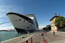 Celebrity cruise ship in Venice