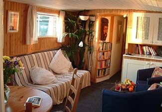 Saloon on Barge Nilaya