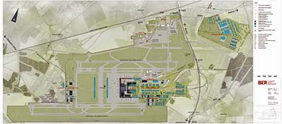 Berlin Brandenburg Airport map