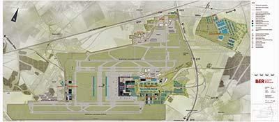 Berlin Brandenburg Airport map