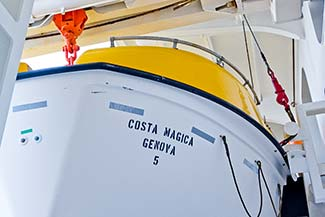 COSTA MAGICA lifeboat