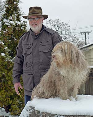 SCOTTEVEST Expedition Jacket and Bearded Collie