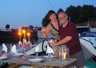 Isabelle and Kevin on Barge Nilaya