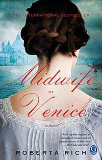 THE MIDWIFE OF VENICE - book cover