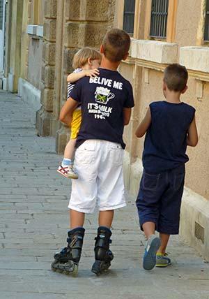 T-shirt on boy in Venice