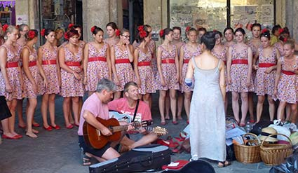 A German school choir in Venice - Venice Travel Blog