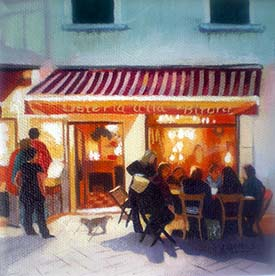 Cafe in the Campo Santa Margherita, by Lesley Banks