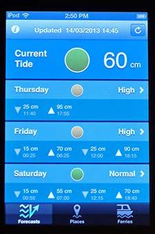 hi!tide Venice smartphone app