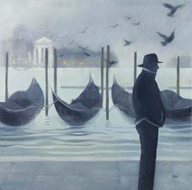 Fog on the Riva degli Schiavoni, by Lesley Banks