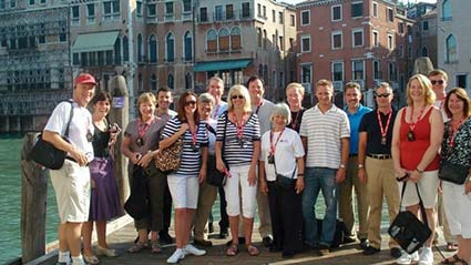 Theme Party People tour in Venice, Italy